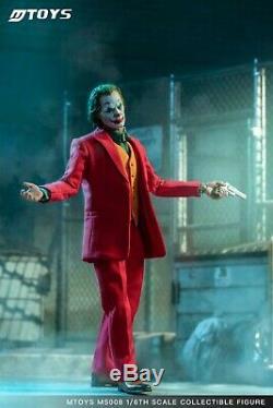 1/6 MTOYS ms008 Joaquin Joker Red Suit Ver. Makeup Head Sculpt WithMask Set