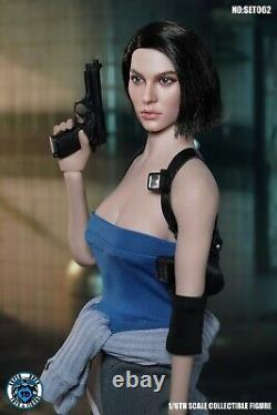 1/6 SUPER DUCK SET062 Jill Valentine SWAT Head Carved & Clothes Toy Face Ver