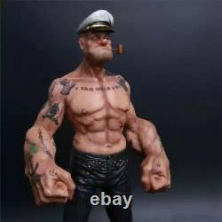 12in Popeye 1/6 FIGURE The Sailor Resin Statue Realistic TATTOO BODY Ver