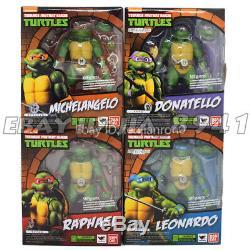 6'' SHF Teenage Mutant Ninja Turtles TMNT Action Figure 4pcs set NIB CHINA VER