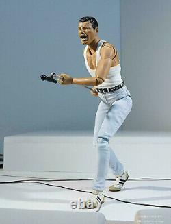 Bandai S. H. Figuarts Freddie Mercury Live Aid Ver. Figure Rock Band Queen