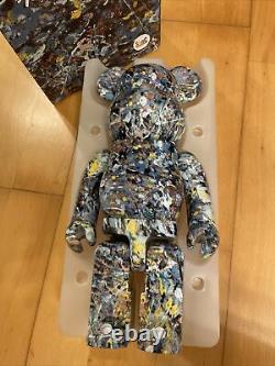 Bearbrick Jackson Pollock Studio 400% Muti Ver Version 1 water print