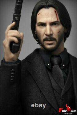 FIRE A028 1/6 Keanu Reeves Agent Man Battle Damaged Ver. 12inches Action Figure