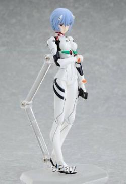 Figma Evangelion 2.0 Rei Ayanami Plugsuit Ver. Max Factory Figure Japan F/S USED