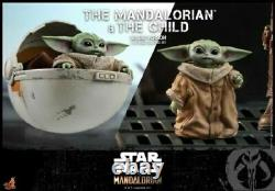 Hot Toys 1/6 TMS015 Star Wars Deluxe Ver. The Mandalorian And The Child Toys Set