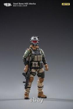 JOYTOY JT0418 1/25 Steel Bone H05 Heavy Firepower Mecha Gray Ver. Action Figure