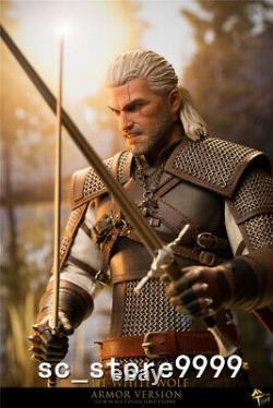 MTTOYS 1/6 MT006 Armor Ver. White Wolf Demon Hunter Geralt Action Figure