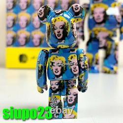 Medicom 400% + 100% Bearbrick Andy Warhol Be@rbrick Marilyn Monroe Ver