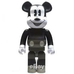 Medicom BE@RBRICK Disney Mickey Mouse Black And White Ver 1000% Bearbrick Figure