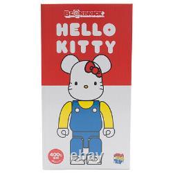 Medicom BE@RBRICK Hello Kitty Blue Overall Ver. 400% Bearbrick Figure