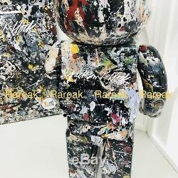 Medicom Be@rbrick 2018 Jackson Pollock Studio 1000% Black ver 2.0 Bearbrick