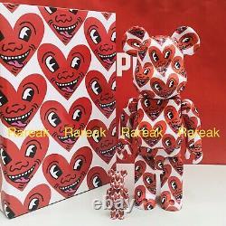 Medicom Be@rbrick 2020 Keith Haring Ver. # 6 Painting 400% + 100% bearbrick Set