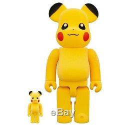 Medicom RBRICK Pikachu Flocky Ver. 100% 400% Bearbrick Figure Set