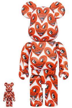 Medicom Toy BE@RBRICK Bearbrick Keith Haring Ver. # 6 100 & 400 set