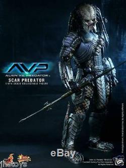 New Hot Toys 1/6 AVP Alien vs Predator Scar Predator Ver. 2.0 MMS190 Japan