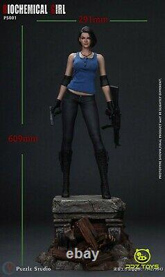 PUZZLE STUDIO 1/4 Resident Evil Jill PS001 Biogirl Collectible Statue Blue Ver. S