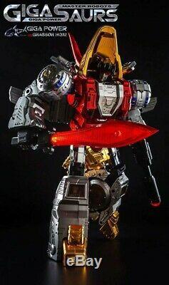 Pre-order Transformers Toy Gigapower GP HQ-02R HQ 02R Grassor Slag Chrome Ver