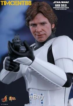 Ready Hot Toys MMS418 Star Wars IV A New Hope Han Solo Stormtrooper Disguise Ver